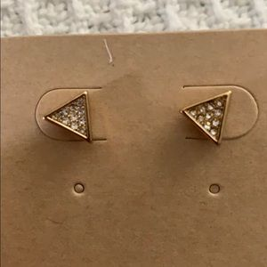 Modern metals stud earrings